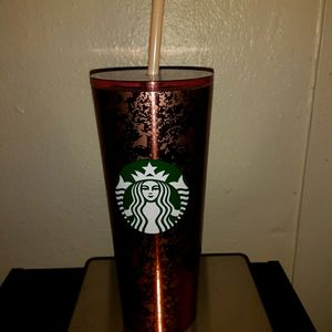 Rose gold venti stainless steel tumbler
